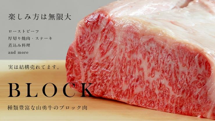 熟成飛騨牛山勇牛のブロック肉